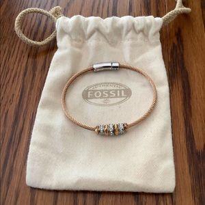 Rose Gold Fossil Bracelet